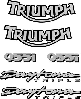 Picture of Triumph Daytona Triple 955i  replacement Decals / Stickers