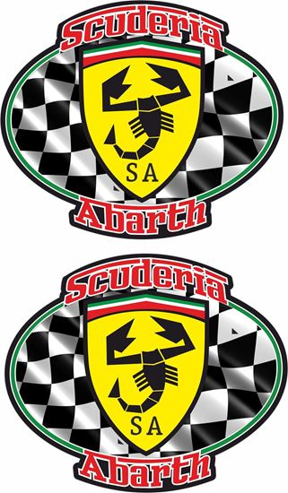 Picture of Fiat Scuderia Abarth Decals / Stickers