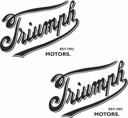"Picture of ""Triumph Motors"" Decals / Stickers"