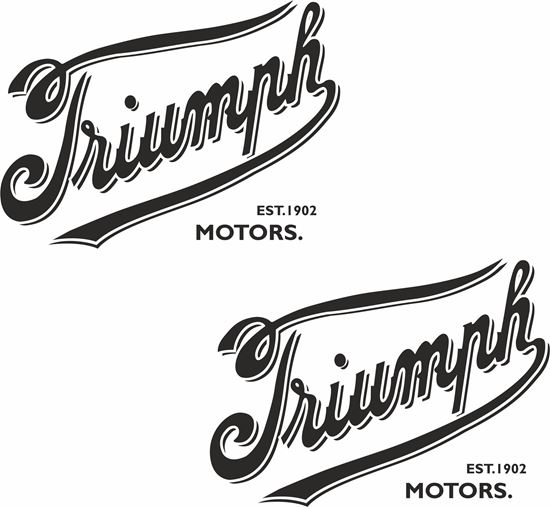 """Picture of """"Triumph Motors"""" Decals / Stickers"""