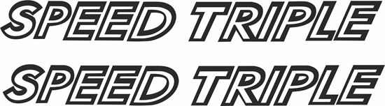 Picture of Triumph Speed Triple 1050 Decals / Stickers
