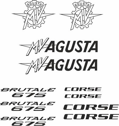 Picture of MV Agusta Mvagusta Brutale 675 Decals / Stickers