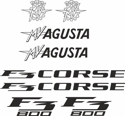 Picture of MV Agusta F3 800 Corse Decals / Stickers