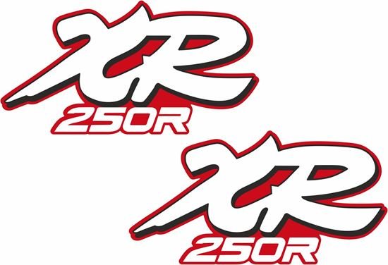 Picture of Honda XR250R replacement Tank Decals / Stickers