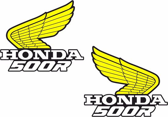Picture of Honda CR / XR / XL 500R replacement Tank Decals / Stickers