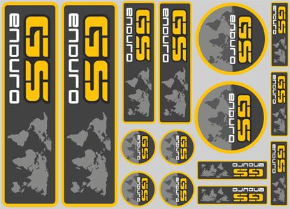 "Picture of ""GS Enduro""  BMW  Sticker Sheet"