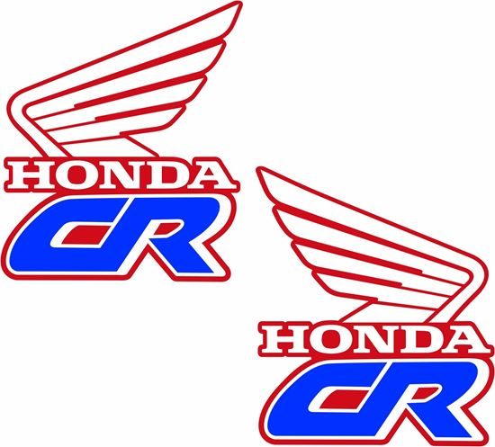 Picture of Honda CR250 1990 replacement Tank Decals / Stickers