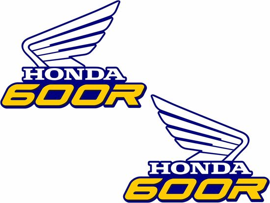 Picture of Honda XR600 replacement Tank Decals / Stickers