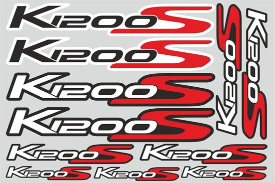 """Picture of """"K 1200S """" BMW  Sticker Sheet"""