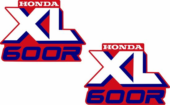 Picture of Honda XL 600 / 600R  replacement Tank Decals / Stickers