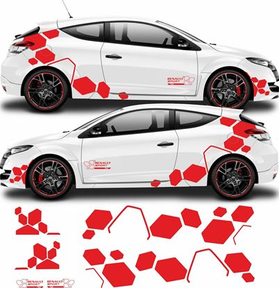 Picture of Renault Megane R.S. side Decals  / Stickers