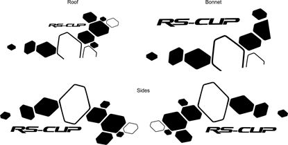 """Picture of Renault  Clio R.S """"RS-CUP"""" Decals / Stickers"""
