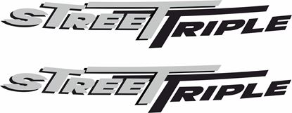 "Picture of Triumph ""Street Triple""  Decals / Stickers"