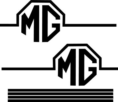 Picture of MG Rover F / TF / ZR / ZT / ZS Side MG Rally Graphics Decals / Stickers