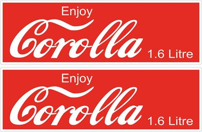 Picture of Enjoy Corolla Toyota Corolla JDM Decals / Stickers