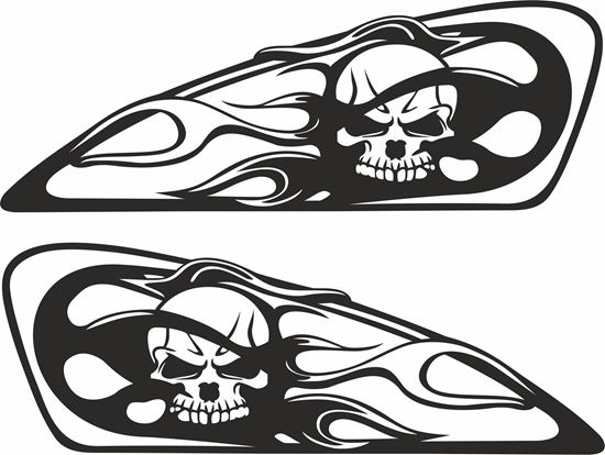Picture of Harley Davidson XL883 / XL1200  Tank  Decals / Stickers