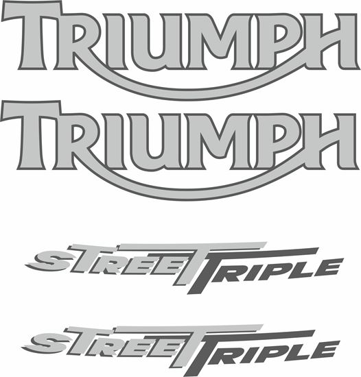"Picture of Triumph ""Street Triple""  replacement Decals / Stickers"