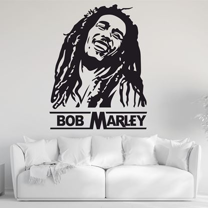"Picture of ""Bob Marley""  Wall Art sticker"