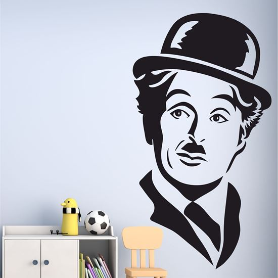 "Picture of ""Charlie Chaplin""  Wall Art sticker"