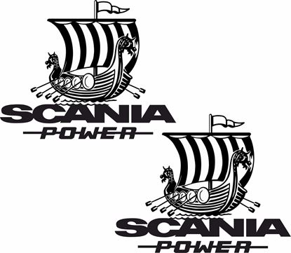"Picture of ""Scania Power "" Panel Decals / Stickers"