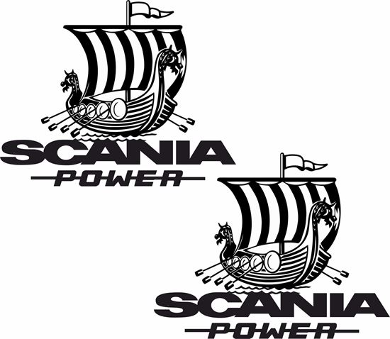"""Picture of """"Scania Power """" Panel Decals / Stickers"""