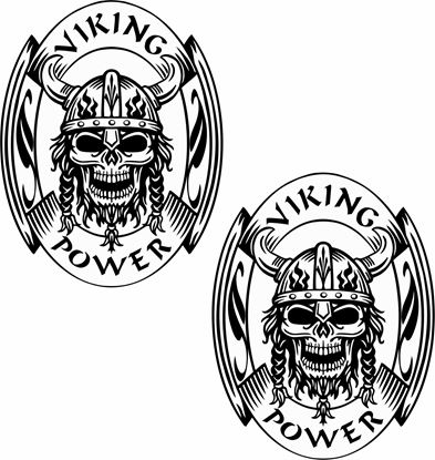 "Picture of ""Viking Power "" Panel Decals / Stickers"