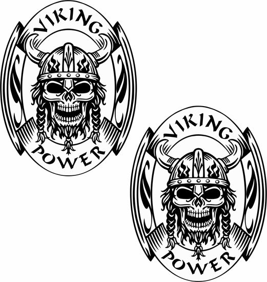 """Picture of """"Viking Power """" Panel Decals / Stickers"""