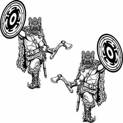 Picture of Viking large side panel Stickers / Decals
