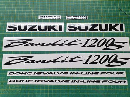 Picture of Suzuki Bandit GSF 1200S Decals / Stickers Single Colour