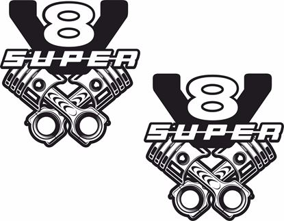 "Picture of Scania ""V8 Super"" general panel Decals / Sticker"