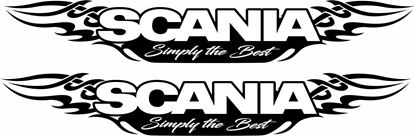 "Picture of ""Scania Simply The Best "" Panel Decals / Stickers"