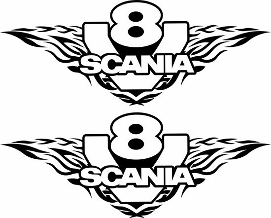 """Picture of """"Scania V8"""" general Panel Decals / Sticker"""