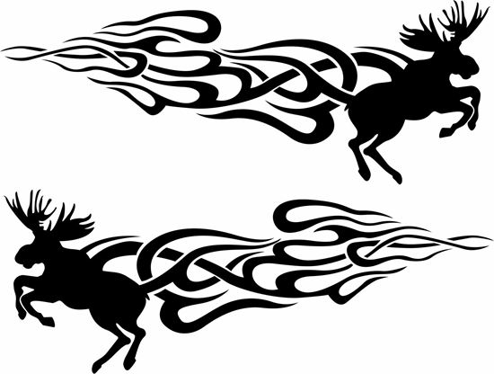 Picture of Racing Moose  general Panel Decals / Sticker