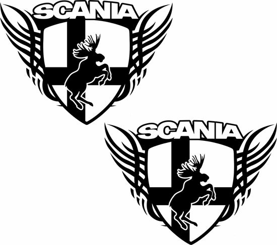 Picture of Scania Moose Panel Decals / Stickers