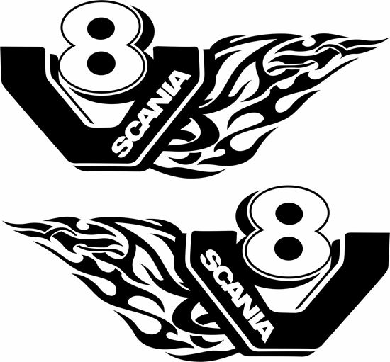 "Picture of ""Scania V8"" general Panel Decals / Sticker"