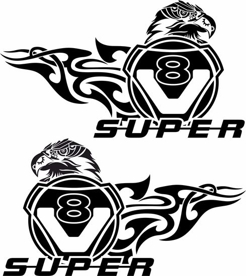 """Picture of Scania """"V8 Super"""" general Panel Decals / Sticker"""