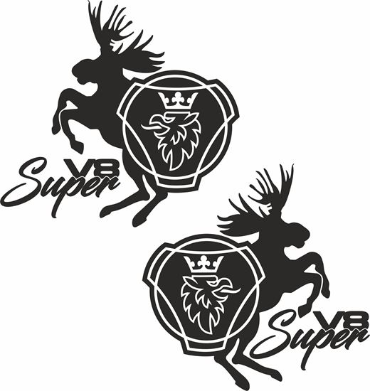 """Picture of Scania  """"V8 Super"""" Panel Decals / Stickers"""