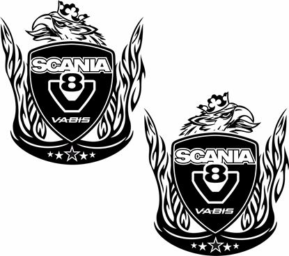 "Picture of ""Scania V8 Vabis"" Panel Decals / Stickers"
