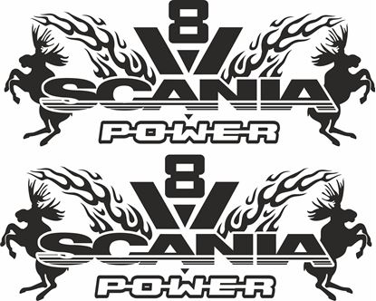 "Picture of ""Scania V8 Power "" Panel Decals / Stickers"