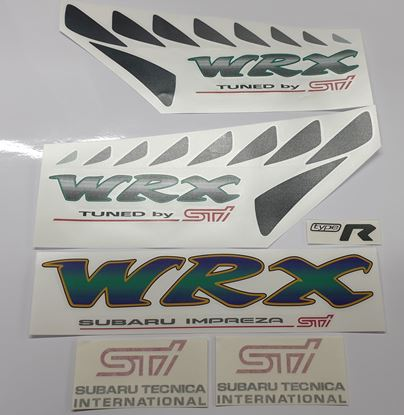 Picture of Subaru Impreza STi WRX Type R full replacement Decals / Stickers