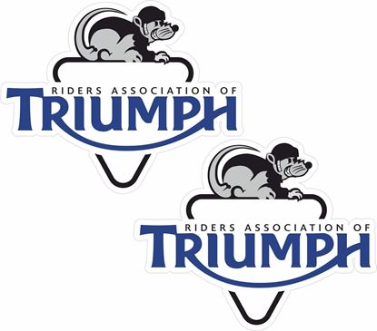"Picture of ""Riders Association of Triumph"" Decals / Stickers"