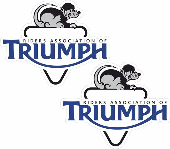 """Picture of """"Riders Association of Triumph"""" Decals / Stickers"""