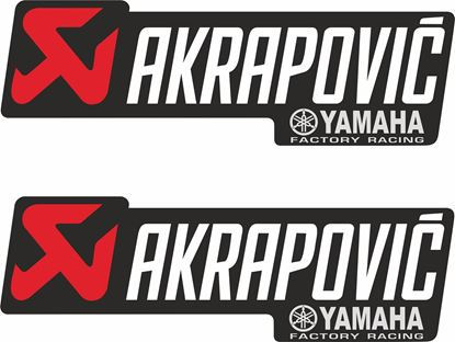 Picture of Yamaha Akrapovic  Decals / Stickers