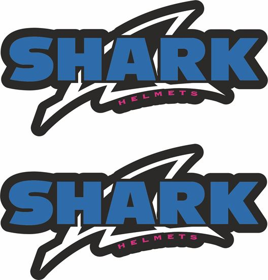 """Picture of """"Shark Helmets""""  Track and street race sponsor Decals / Stickers"""