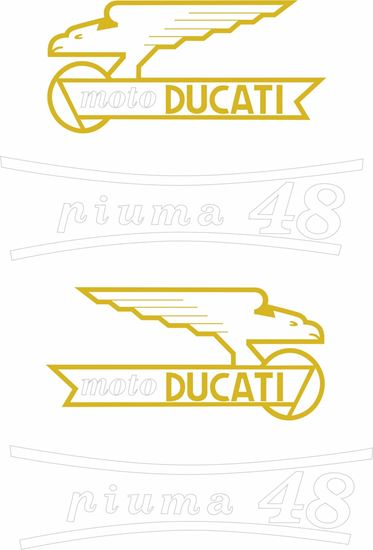 Picture of Ducati Piuma 48 replacement Decals / Stickers