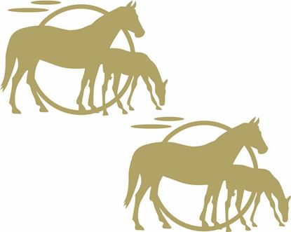 Picture of Kentucky Camp Horses panel  Decals  / Stickers