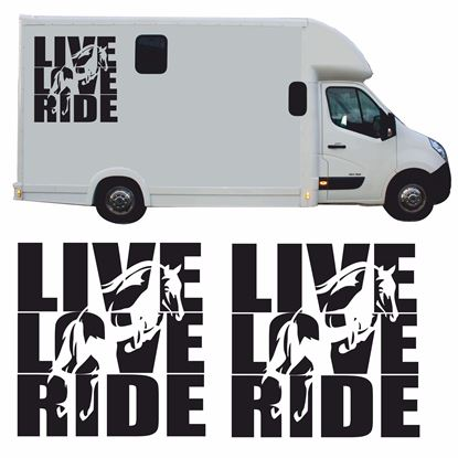 "Picture of ""Live Love Ride"" side panel Decals / Stickers"