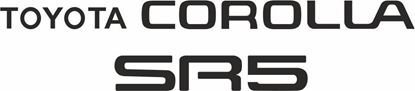 Picture of Toyota Corolla AE86 SR5 replacement rear hatch Decals / Stickers