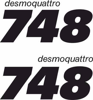 """Picture of Ducati """"748 desmoquattro"""" Fairing Decals / Stickers"""
