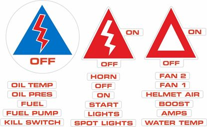 Picture of Track car Safety Decals / Stickers